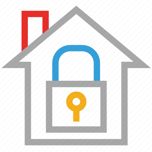 house, lock, real estate, safe icon