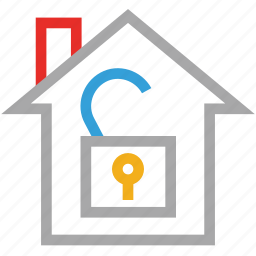 estate, house, real, unlock icon