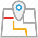 gps, map, navigation, pin