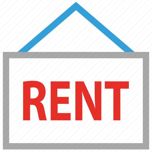 information, real estate, rent, signboard icon