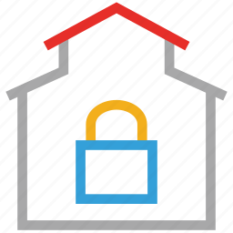 house lock, lock, real estate, safe icon