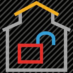 estate, house unlock, real, unlock icon