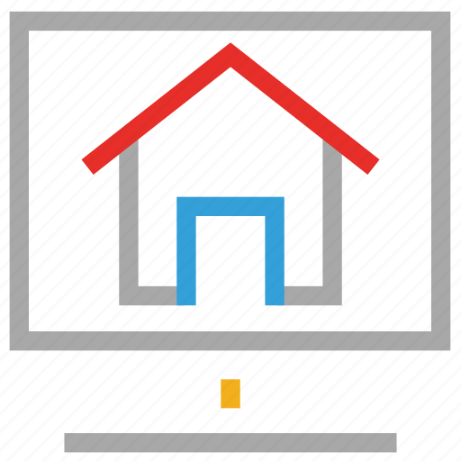 house displaying, monitor, screen, shack displaying icon