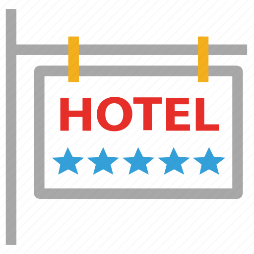 five star hotel, hotel, information, real estate icon