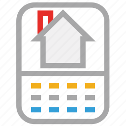 house picture, mobile, mobile display, mobile screen icon
