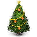 christmas, tree, holiday, winter, december icon