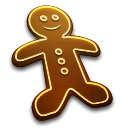 cake, gingerbread, man, food, christmas, anders madsen icon