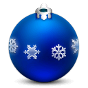 ornament, with, flakes, christmas icon
