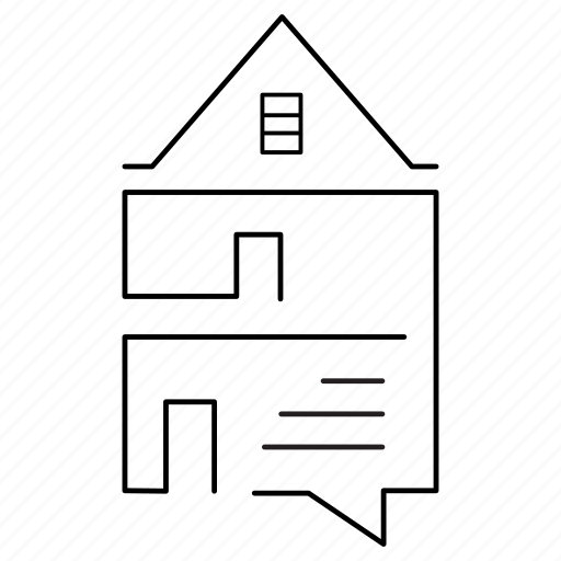 bubble, building, home, homes, house6, interface, testimonial icon
