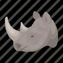 animal, mammal, rhinoceros, savanna, ungulate, wild, zoo
