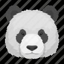 animal, bamboo, bear, mammal, panda, wild, zoo icon
