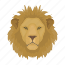 animal, cat, lion, mammal, predator, wild, zoo icon