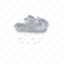 light, snow, showers, winter, cold, weather icon