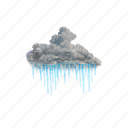 moderate, or, heavy, freezing, rain, weather, cloud