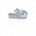 moderate, or, heavy, rain, shower, weather, clouds