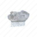 moderate, or, heavy, sleet, rain, clouds, cloudy icon