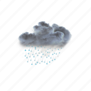moderate, or, heavy, sleet, showers, weather, clouds icon