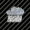 moderate, heavy, snow, showers, winter, weather, rain icon