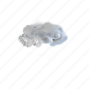 moderate, rain, at, times, cloud, weather, forecast icon