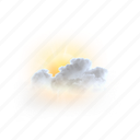 partly, cloudy, weather, forecast