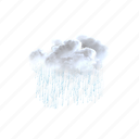 patchy, light, drizzle icon