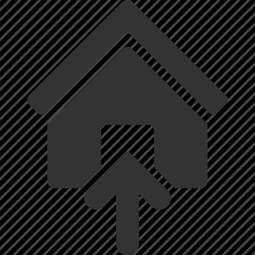 building, doorway, entrance, open door, real estate, realty, room icon