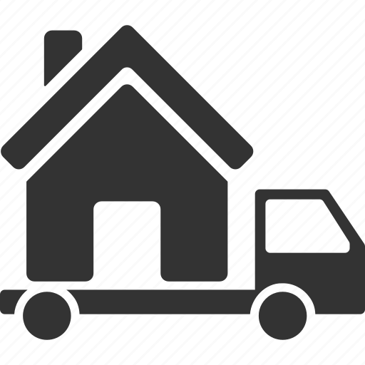 building, house, mobile, real estate, realty, trailer, transportation icon