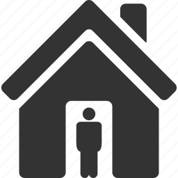 doorway, entrance, home, house, open door, real estate, realty owner icon