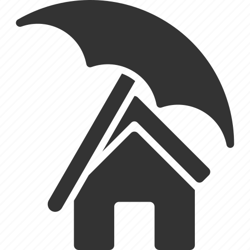 building, business, insurance, protection, real estate, realty, umbrella icon
