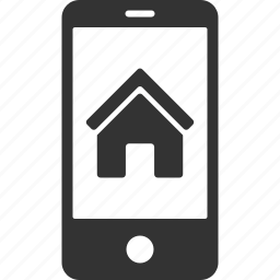 building, business, mobile signaling, real estate, realty, remote control, smartphone icon