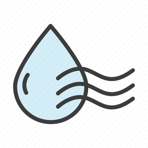 drop, water, waves icon