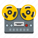 equipment, music, recorder, reel, retro, stereo, tape icon