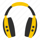 headphone, modern, music, sound, stereo, technology, volume icon