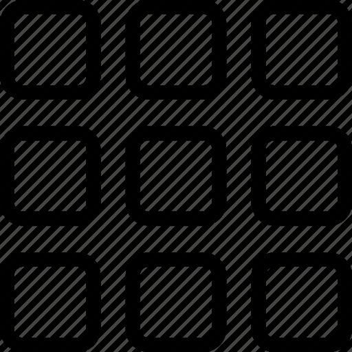 grid, layout, menu, schedule icon