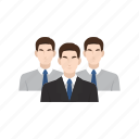 business, business man, employee, employer, job, recruitment, team work icon