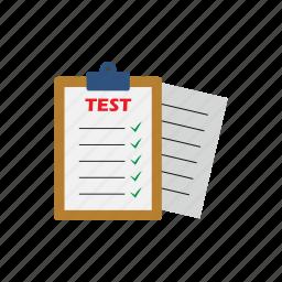 applicant, exam, job, questionnaire, recruitment, selection, test icon