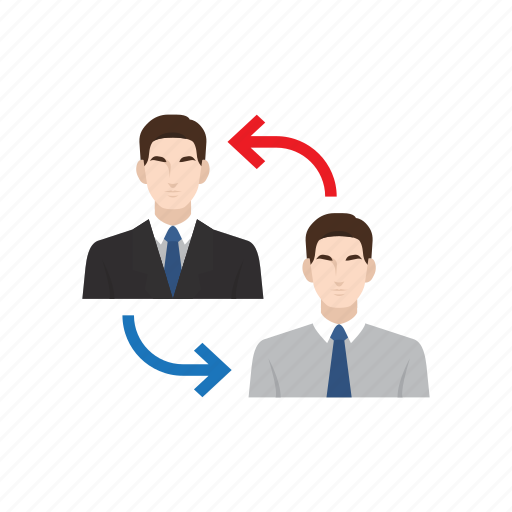 business man, cooperation, employee, employer, recruitment, transfer, work icon