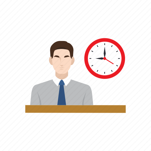clock, employment, job, office hour, recruitment, training, working icon