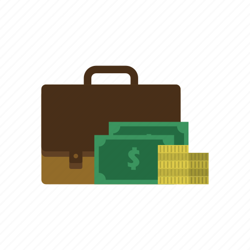 briefcase, dollar, income, job, money, recruitment, salary icon