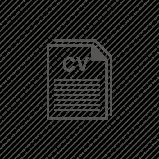 cv, document, job, resume icon