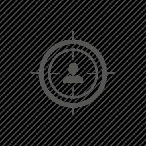 bullseye, crosshairs, goal, target icon