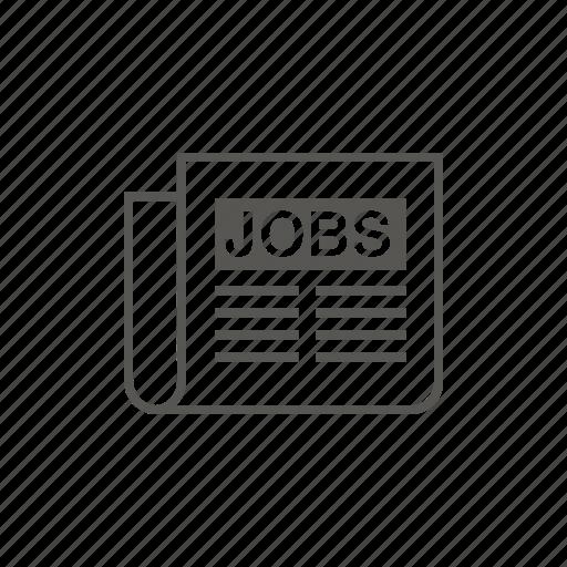 classifieds, job, job listings, jobs icon