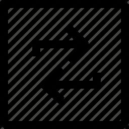 arrow, direction, move, navigation, square icon