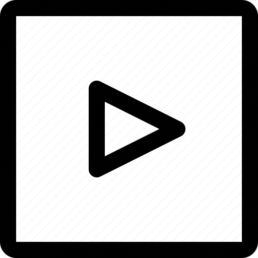 arrow, direction, move, navigation, square icon