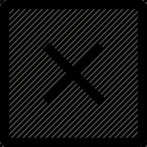 delete, direction, move, navigation, remove, square, x icon