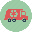 auto, bin, car, garbage, recycle, recycling, transportation, trash, truck icon