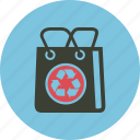 bag, conservation, ecology, environment, green, recycle, recycling, shopping icon