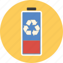 battery, conservation, ecology, energy, environment, green, power, recycle, recycling icon
