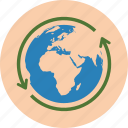 conservation, earth, ecology, environment, globe, green, recycle, recycling icon