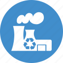 building, conservation, ecology, environment, factory, green, industry, recycle, recycling icon
